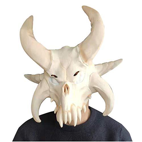 YC° Kuh Schädel Maske, Halloween Neue Kreative Tiermaske Rolle Spielen Bar Party Spaß Latex Haube Set Requisiten, Geeignet Für Jungen Und Mädchen Eine Größe Für Alle Geeignet