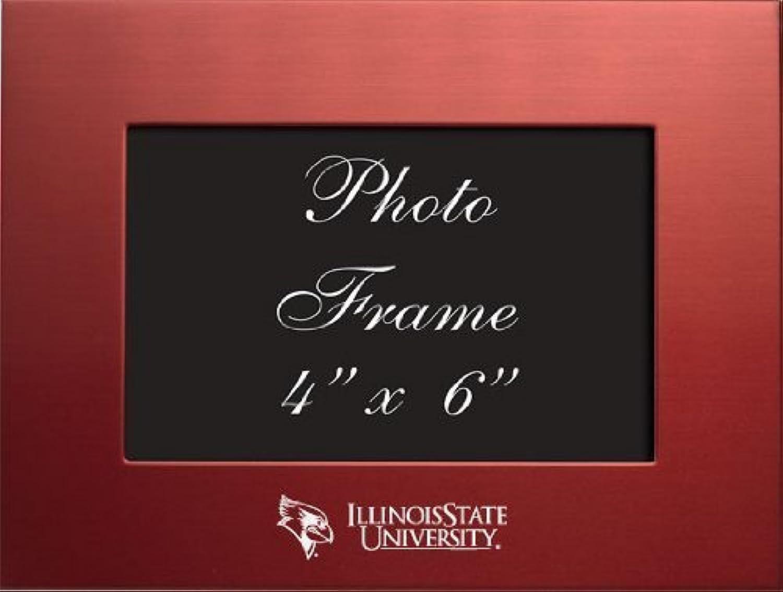 Illinois State University–4x 6gebürstete Metall Bilderrahmen–rot von Lxg, Inc.