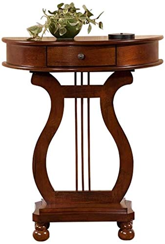 Nightstand Table Side Table With Rectangular Base, Round Table Hall Wall Table Accent Tables Small Spaces Side table