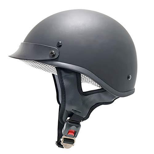 DLPAC Retro Baseball Cap Modeling Half Helmet for Men & Women, Street Biker Scooter Touring Moped ATV Helmet for Motorcycle, DOT Approved Open Face Helmet Skull Cap