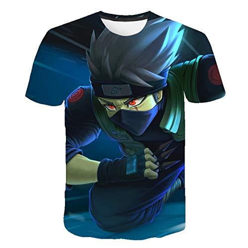 Unisex 3D Druckten Sommer-beiläufige Kurze Hülsen-T-Shirts Männer Cartoon Anime T-Shirt 3D Naruto Casual Trend T-Shirt O-Ausschnitt Interessante Männer Kleidung-XL