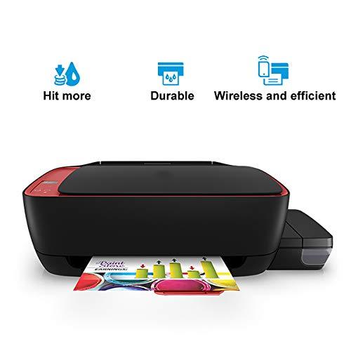 TANCEQI navulbare 3-in-1 inkjetstraal multifunctioneel apparaat, kleureninkjetprinter (kopieerapparaat, scanner, printer, A4, mobiele wifi-print) grote inktcontainer
