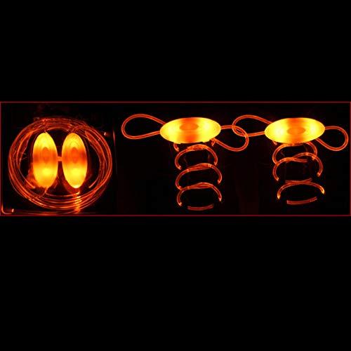 Vtops Moda LED Luminoso Cordones Accesorios de Juguete Brillan en la Oscuridad Mejorar la Capacidad Manipulativa Regalo Juguetes (1 par)