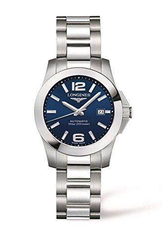 Longines Reloj automático para Mujer con Esfera Negra analógica, Acero Inoxidable L32764996