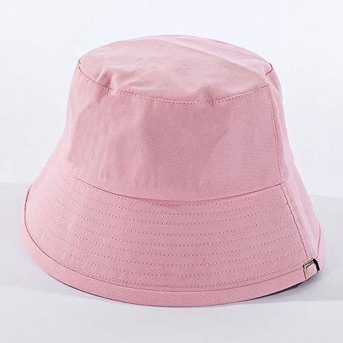 LLCX Sombrero de Verano de Color Liso Fisherman, protección Solar y protección...