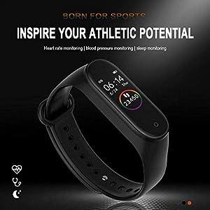 Pulsera inteligente M4, pulsera inteligente, reloj deportivo, rastreador de fitness, monitor de presión de corazón, reloj de actividad con monitor de frecuencia cardíaca, monitor de presión arterial