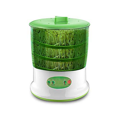 LTLWSH Germinador,Bandejas de Semillas eléctrico, 1.25L Bandeja Brotar de Semillas Natto, Vino de arroz, máquina de Yogurt Doble Capa de Hidropónica Bandeja de Germinación para Semillas