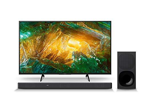 Sony KD-43XH8096 Bravia 108 cm (43 Zoll) Fernseher (Android TV, LED, 4K Ultra HD (UHD), High Dynamic Range (HDR)) Schwarz + 3.1-Kanal-Soundbar mit Dolby Atmos (Surround Sound, Bluetooth) Schwarz