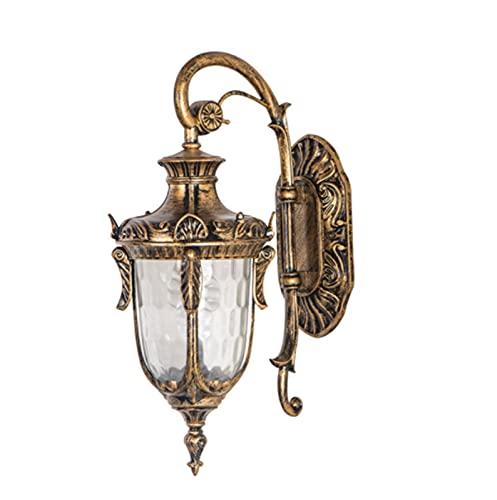Lámpara Decorativa de jardín rústico de Aluminio Resistente al Agua de Bronce para Exteriores Vintage para Porche, balcón, Patio y Garaje