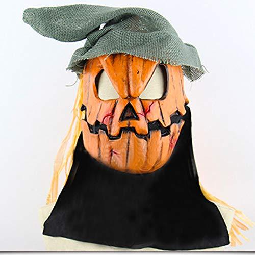 LINMASK Máscara De Látex Máscaras De Terror, Espantapájaros De La Calabaza para Halloween Maquillaje Partido Ajusta A La Mayoría Adultos Y Adolescentes Y Un Tamaño
