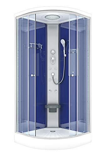 AcquaVapore DTP10-0200 Dusche Duschtempel Duschkabine Fertigdusche 80x80cm JA mit 2K Scheiben Versiegelung