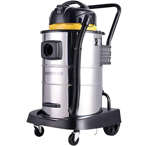 Syntrox Germany 50 Liter Edelstahl Industriesauger Nass- und Trockensauger