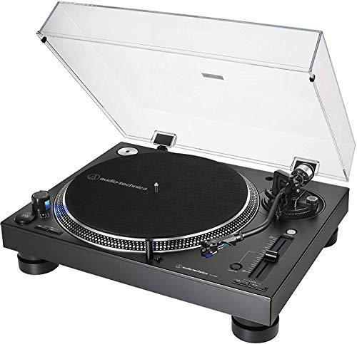 Audio-Technica AT-LP140XP Giradiscos Profesional Manual de Tracción Directa - Negro