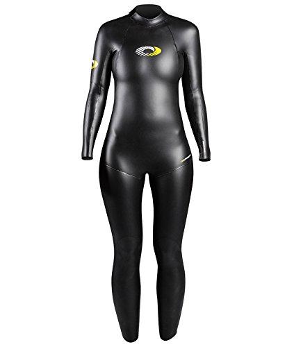 Osprey de la mujer 5mm longitud triatlón traje neopreno, No, No, mujer, color negro, tamaño Large