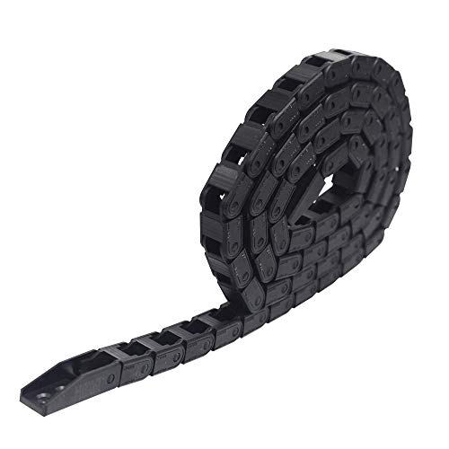 New 1M Black Plastic Drag Chain Cable Carrier for Electrical Machines Engineering CNC Industrial Parts (7mm x 7mm)