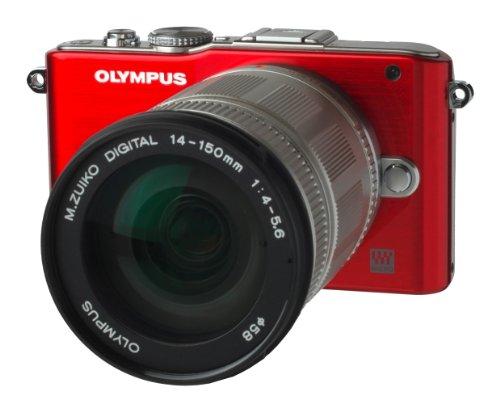 Olympus PEN E-PL3 Systemkamera (12 Megapixel) rot Kit mit M.Zuiko Digital ED 14-150mm Objektiv