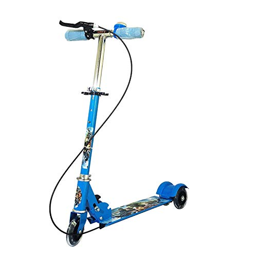 ZOMBIMAA Road Runner Scooter for Kids of 3 to 10 Years Age 3 Adjustable Height, Foldable, LED PU Wheels & Weight Capacity 75 kgs Kick Scooter with Brake (Sometime Color and Model May Vary)