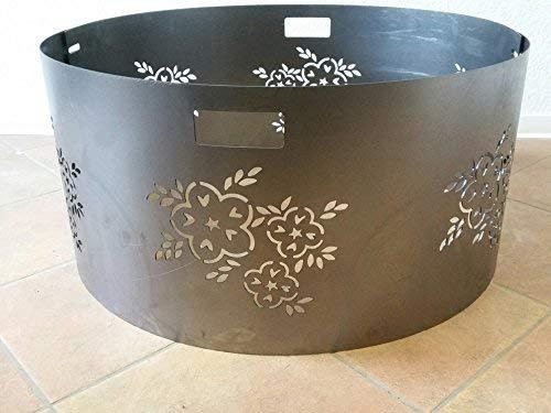 Czaja Stanzteile Funkenschutz Blumenmotiv für alle Feuerschalen Ø55cm