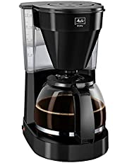 Melitta Easy, koffiezetapparaat met glazen kan, compact design, zwart