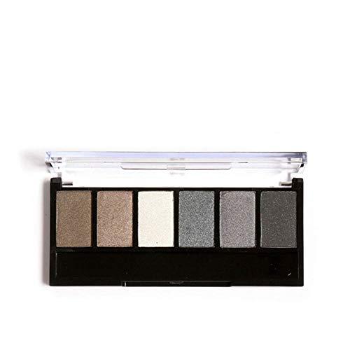 Lidschatten-Palette, 6 Farben kosmetische Schimmer Matte Make-up langlebig Smokey Eye Kosmetik-Set(#1)