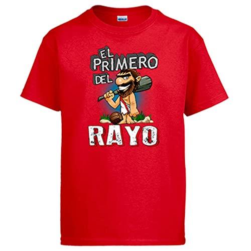 Diver Bebé Camiseta Frase el Primero del Rayo para hincha de su Equipo de fútbol - Rojo, S