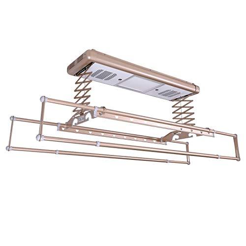 Household items Der elektrische Wäscheständer an der Decke hebt die Wäscheleine aus der Ferne an. Lufttrocknung/Heizung Trocknung Wäschetrockner, Eine versenkbare Kleiderstange mit LED-Leuchten
