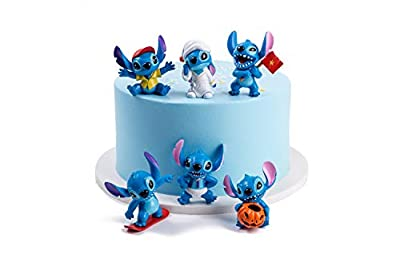 ATII Lilo & Stitch Mini Figures for Cake Topper Room Decor and Kids' Playing