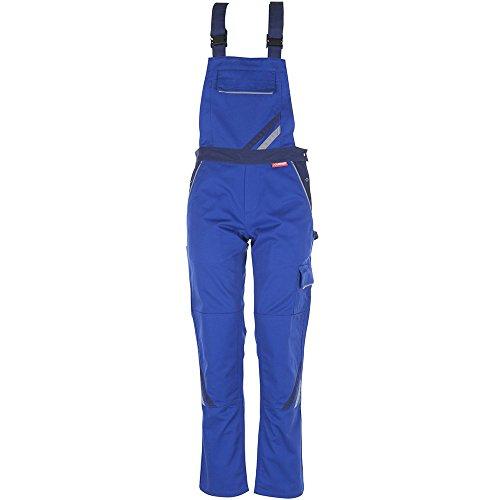 Planam Damen Latzhose Highline, größe 38, zink, kornblau / marine / mehrfarbig, 2338038