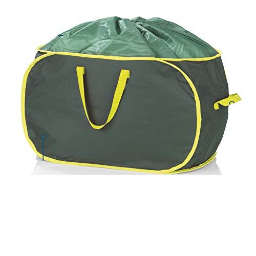 Hoberg verschließbare Gartenabfalltasche, je 333 Liter, 2er Set, 45 kg Tragfähigkeit, Wasserabweisend, Robust, Stabil, Platzsparend verstaubar