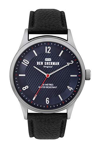 Ben Sherman Herren Analog Quarz Uhr mit Leder Armband WB025UB
