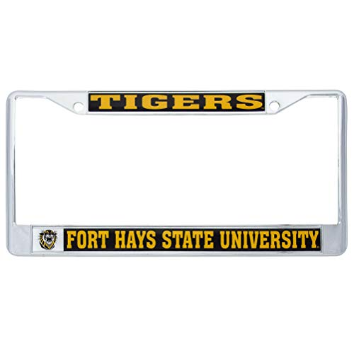 Fort Hays State University FHSU Tigers Metal License Plate Frame for Front or Back of Car Officially Licensed (Mascot) C