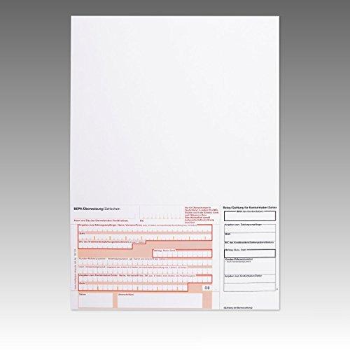 1000 x Überweisungsträger Überweisungsformular SEPA Zahlschein A4 unten links ohne