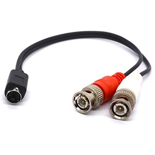 Splitterkabel SVHS auf BNC, 4-poliger SVHS-Stecker auf doppelte BNC-Buchse, S-Video-Adapter, S-Video-Stecker für CCTV-Kameras, Verstärker, Koaxialkabel