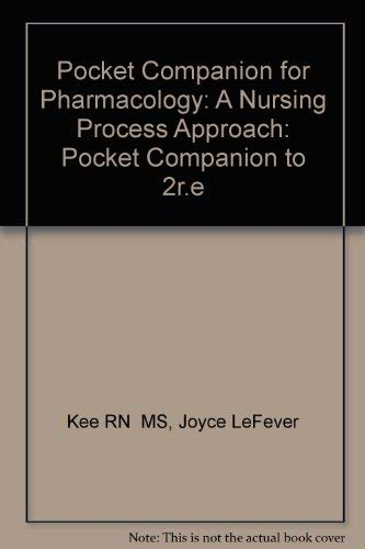 Pocket Companion for Pharmacology: A Nursing Process Approach