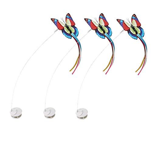FLURFF Zenes Funny Cat Toy Butterfly Replacement (3 Pack Refills)