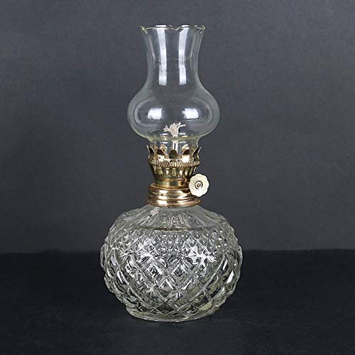 Pumpne Glas Kerosin-Lampe Klassische Öllampe Start Notlicht Stromausfall Antike Petroleumlampe Round Body Butter-Lampe for Buddha-Licht Vintage Oil Lampe-Laterne