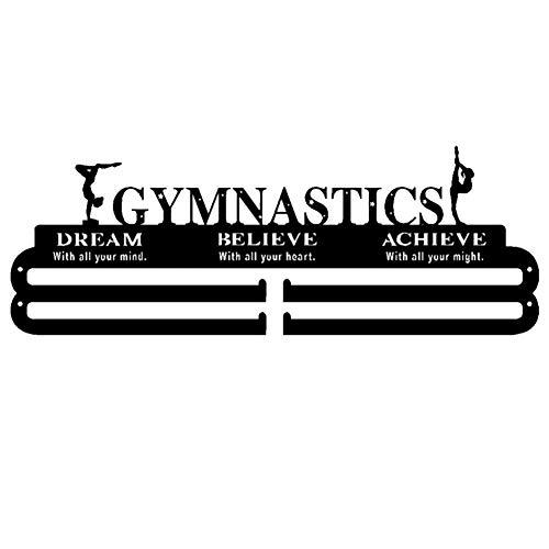 Chalkalon Medaillen Aufhänger, Gymnastik, Medaillenhalter Turnen, Eisen Kunst Medal Hanger Gymnastics, 48X17X0,2CM ideal