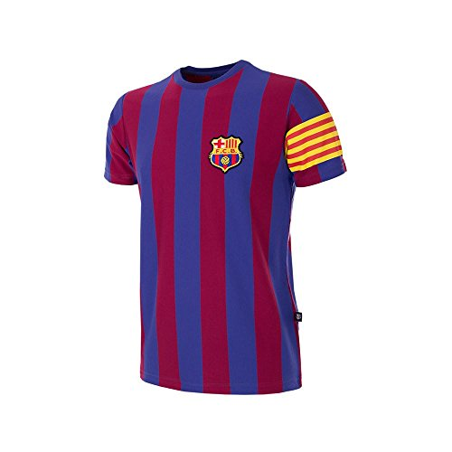 Copa Camiseta Unisex de Cuello Redondo del FC Barcelona Capitán Retro, Unisex...