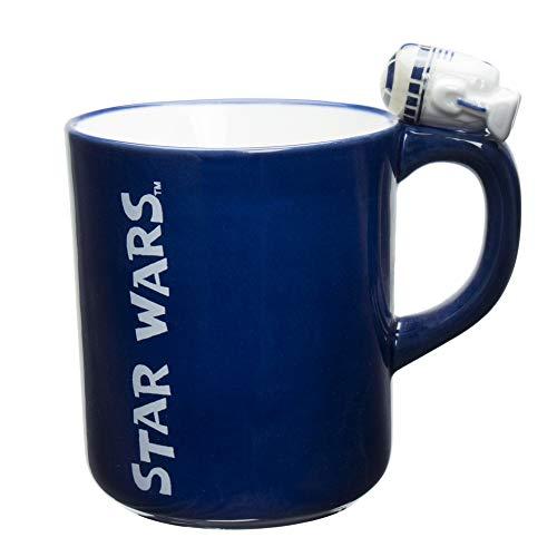 「 スターウォーズ 」 R2-D2 マグカップ(フィギュア付) 260ml ブルー SAN2909-1