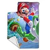 Mario - Juego de tapetes para siesta para bebé (incluye almohada y manta de forro polar (43 x 21 pulgadas), ideal para dormir la siesta y los niños pequeños