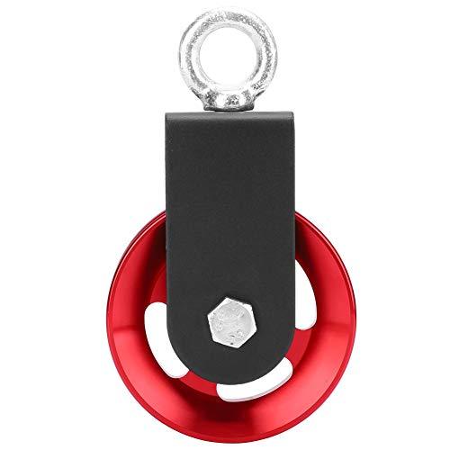 Hancend 88mm rotes Aluminium Mute Fitnessgerät Halterung Riemenscheibe hängendes Rad DIY Sports Gym Tool