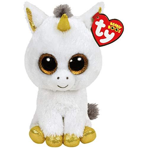 Ty - Beanie Boo's - Peluche Pegasus la Licorne, TY36179, Blanc / Jaune, 15 cm
