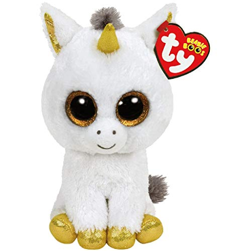Ty- Peluche, Juguete, Color Blanco, 15 cm (United Labels Ib