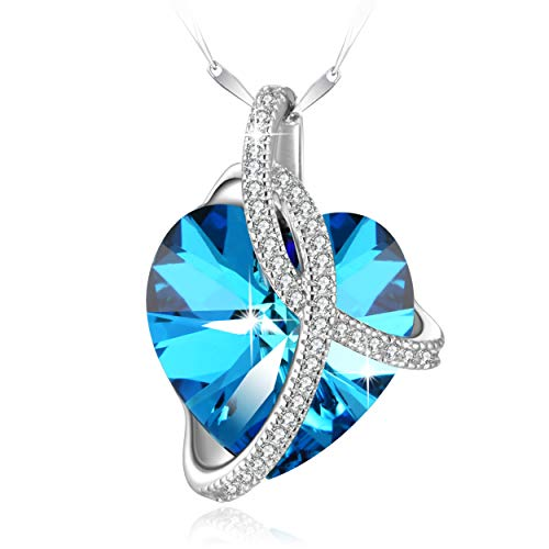 Heart Pendant Necklace with Swarovski Crystal $6.59 (70% OFF)