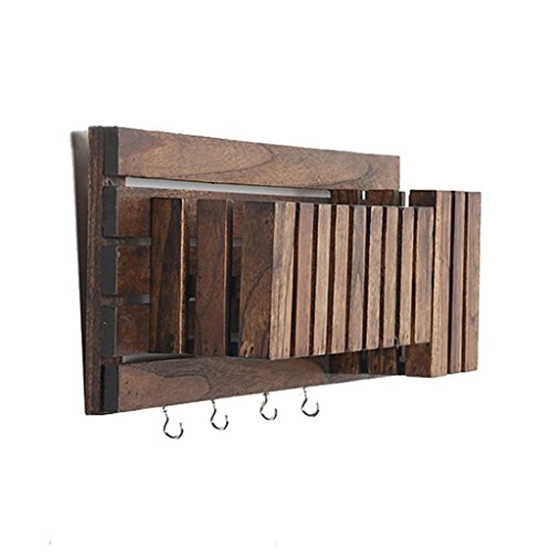 YXQ Shelves Wall-mounted Partition Vintage Solid Wood Wall Shelf Loft Cube Shelf Wall Hanging Clapboard As Bookshelf Storage Rack Floating Unit Frame Creative Industrial Style Wall Decorations Design
