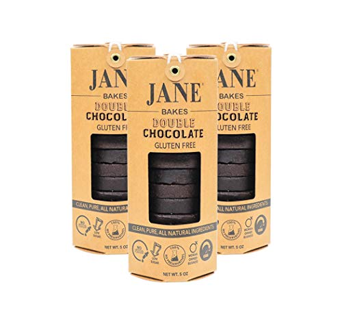 JANE BAKES 100% All Natural Gluten Free Double Chocolate Cookies -3 Pack