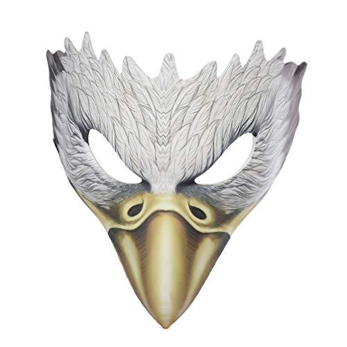 Toyvian Halbes Gesicht Adler Maske Tierkopf Maske Cosplay für Partei Maskerade Kostüm Dekoration 1pc