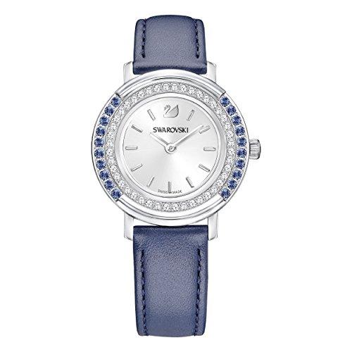 Swarovski Reloj de mujer cuarzo correa de cuero color azul caja de 5243038