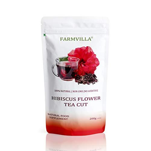 Farmvilla Hibiscus Flower Tea Cut 200 Gram