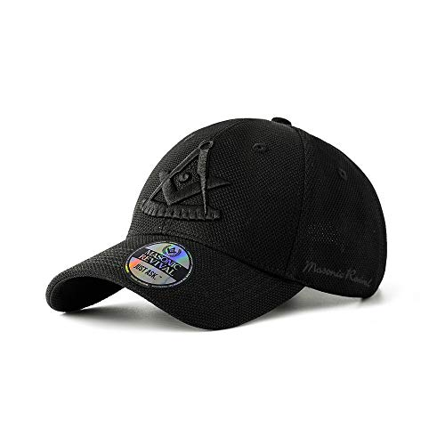 Masonic Revival - Noche Past Master Cap (Stretch Fit L/XL) Black